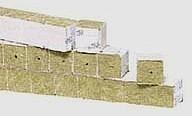 Taco lana de roca 4.5x4.5cms