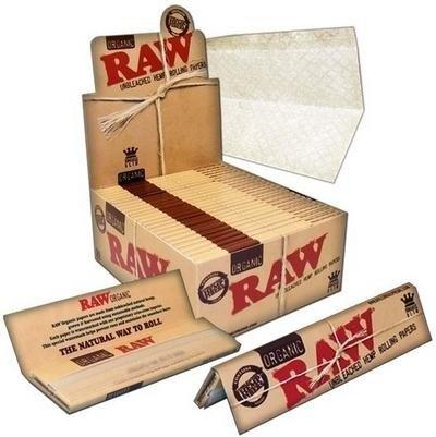 Papel de Fumar Raw King Size Organic 32 uds